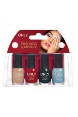 Orly Nail Lacquer Mani Minis - Darlings of Defiance - 4 X 0.18oz / 5.3ml