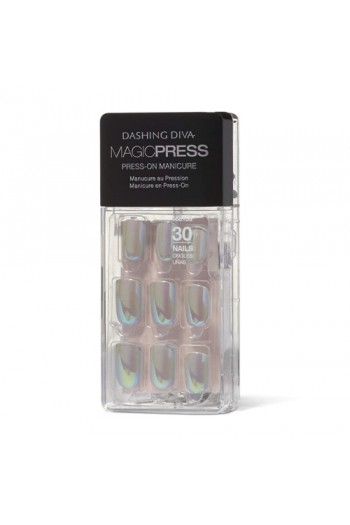 Dashing Diva - Magic Press - Press-On Manicure - Glow On - 30 Pieces
