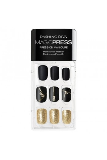 Dashing Diva - Magic Press - Press-On Manicure - Gold Standard - 30 Pieces