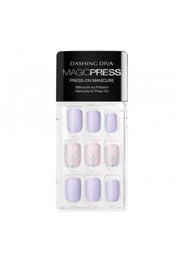 Dashing Diva - Magic Press - Press-On Manicure - Ice Queen - 30 Pieces