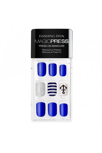 Dashing Diva - Magic Press - Press-On Manicure - Making Waves - 30 Pieces
