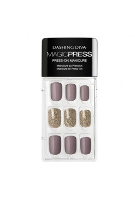 Dashing Diva - Magic Press - Press-On Manicure - Mauvelous - 30 Pieces