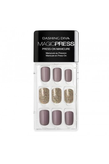 Dashing Diva - Magic Press - Press-On Manicure - Mauvelous - 30 Pieces