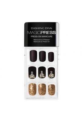 Dashing Diva - Magic Press - Press-On Manicure - Toast of the Town - 30 Pieces