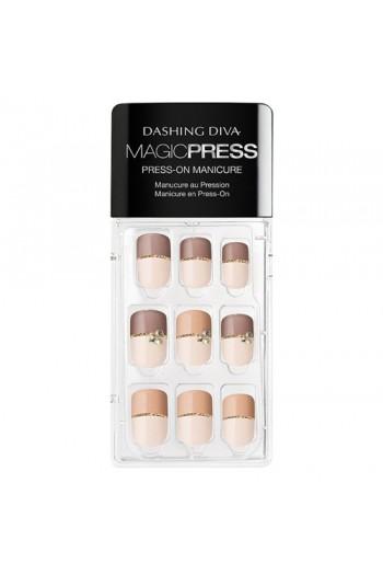 Dashing Diva - Magic Press - Press-On Manicure - Two Tone Temptation - 30 Pieces