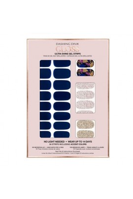 Dashing Diva - Gloss Ultra Shine Gel Strips - Blue Beauty - 34 Strips