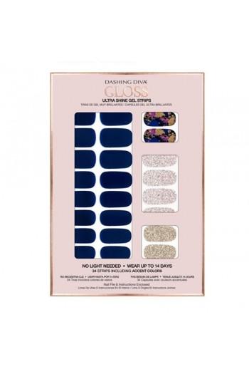 Dashing Diva - Gloss Ultra Shine Gel Strips - Blue Beauty - 34 Strips