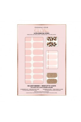 Dashing Diva - Gloss Ultra Shine Gel Strips - Cheetahlicious - 34 Strips