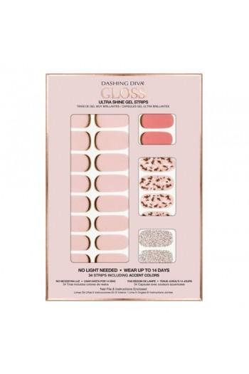 Dashing Diva - Gloss Ultra Shine Gel Strips - Feeling Flush - 34 Strips