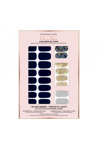 Dashing Diva - Gloss Ultra Shine Gel Strips - Lapis Lazuli - 34 Strips
