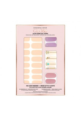 Dashing Diva - Gloss Ultra Shine Gel Strips - Spring Fling - 34 Strips