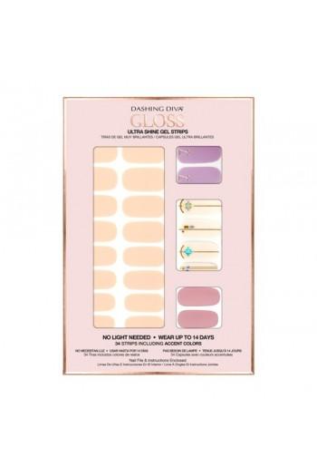 Dashing Diva - Gloss Ultra Shine Gel Strips - Spring Fling - 34 Strips