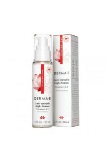 Derma E Beauty - Anti-Wrinkle Night Serum - 2oz / 60ml