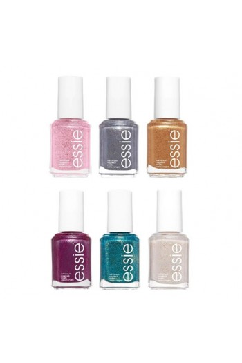 Essie Nail Lacquer - Concrete Glitters Collection 2018 -  All 6 Colors  - 13.5 mL / 0.46 oz Each
