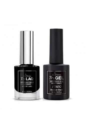 EzFlow Color Duos - LAQ & GEL - Black on Black 178ED - 14ml / 0.5oz Each