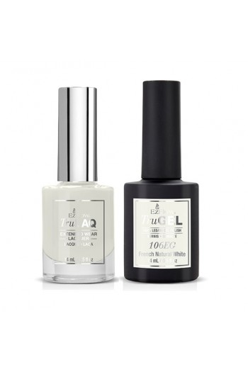 EzFlow Color Duos - LAQ & GEL - French Natural White 106ED - 14ml / 0.5oz Each