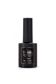 EzFlow TruGel LED/UV Gel Polish - Black on Black - 0.5oz / 14ml - NEW BOTTLES