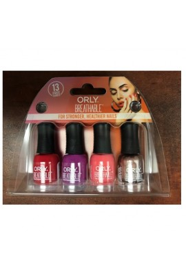 Orly Breathable Nail Lacquer - Treatment + Color - Mini 4pk Set - 0.18oz / 5.3ml Each - 28967