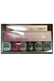 Orly Breathable Nail Lacquer - Treatment + Color - 6 Piece Kit #3 - 0.6oz / 18ml Each