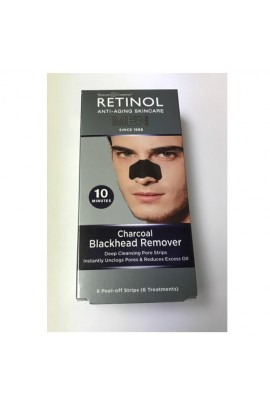 Skincare Cosmetics - Retinol Anti-Aging For Men - Charcoal Blackhead Remover - 6 Sheets