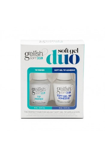 Harmony Gelish - Soft Gel - Tip Primer and Adhesive Duo - 2 PC - 15ml/0.5 oz each