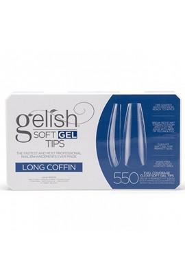 Harmony Gelish - Soft Gel Tips - Long Coffin - 550 Tips