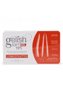 Harmony Gelish - Soft Gel Tips - Long Stiletto - 550 Tips