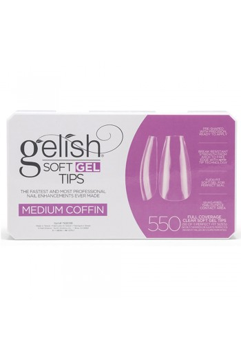 Harmony Gelish - Soft Gel Tips - Medium Coffin - 550 Tips