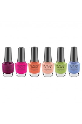 Morgan Taylor Nail Lacquer - Feel The Vibes Collection - All 6 Colors - 15ml / 0.5oz Each