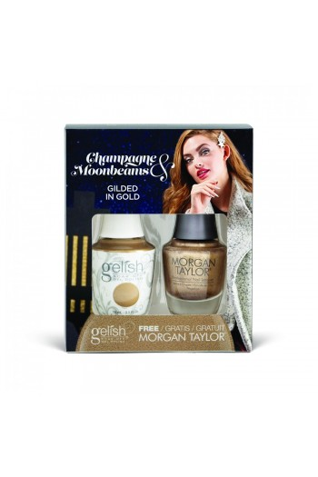 Harmony Gelish - Two of a Kind - Champagne & Moonbeams 2019 Collection - Gilded in Gold - 15ml / 0.5oz