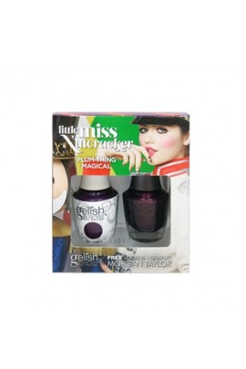 Nail Harmony Gelish & Morgan Taylor - Two of a Kind - Little Miss Nutcracker 2017 Collection - Plum-Thing Magical