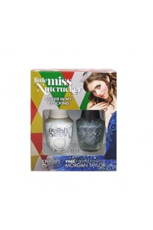 Nail Harmony Gelish & Morgan Taylor - Two of a Kind - Little Miss Nutcracker 2017 Collection - Silver In My Stocking