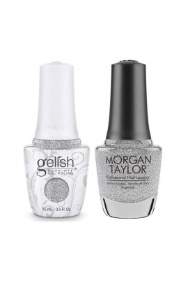 Harmony Gelish & Morgan Taylor - Two Of A Kind - Forever Fabulous Marilyn Monroe - Diamonds Are My BFF - 15 mL / 0.5 Oz