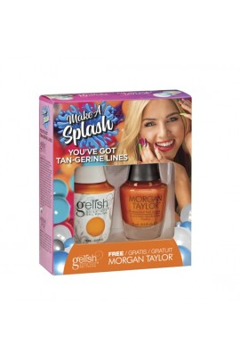 Harmony Gelish - Two of a Kind - Make a Splash 2018 Collection - You've Got Tan-gerine Lines