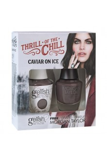 Nail Harmony Gelish & Morgan Taylor - Two of a Kind - 2017 Winter Collection - Thrill Of The Chill - Caviar On Ice