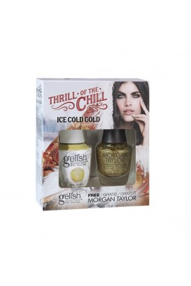 Nail Harmony Gelish & Morgan Taylor - Two of a Kind - 2017 Winter Collection - Thrill Of The Chill - Ice Cold Gold