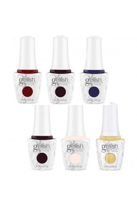 Nail Harmony Gelish - Thrill Of The Chill Winter 2017 Collection - All 6 Colors - 15 mL / 0.5 Fl. Oz. Each