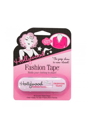 Hollywood Fashion Secrets - Fashion Tape Tin - Clear Double-Sided Strips - 36 Count