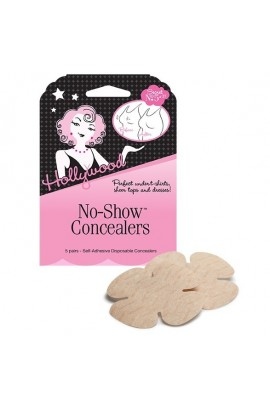 Hollywood Fashion Secrets - No-Show Concealers - Self-Adhesive Disposable - 5 Pairs