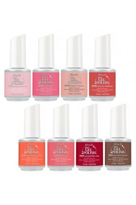 ibd Just Gel Polish - Peach Palette Collection - All 8 Colors - 14 ml / 0.5 oz