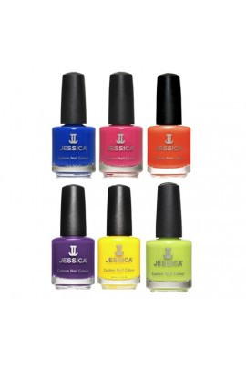 Jessica Nail Polish - Prime Summer 2017 Collection - 0.5oz / 14.8ml -  All 6 Colors