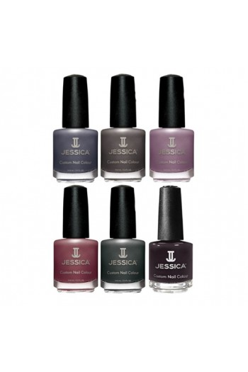 Jessica Nail Polish - Street Style Fall 2017 Collection - 0.5oz / 14.8ml -  All 6 Colors