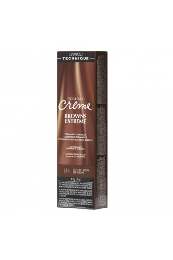 L'Oreal Technique Excellence Creme - Browns Extreme - Extreme Medium Red Brown - 1.74oz / 49.29oz