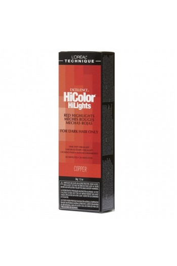L'Oreal Technique Excellence HiColor HiLights - Red Highlights - Copper - 1.74oz / 49.29oz