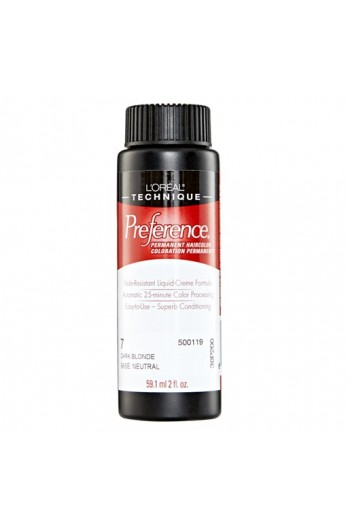 L'Oreal Technique Preference - 7 Dark Blonde - 59.1ml / 2oz