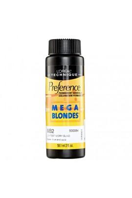 L'Oreal Technique Preference - Mega Blondes - MB2 Lightest Ivory Blonde - 59.1ml / 2oz