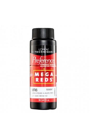L'Oreal Technique Preference - Mega Reds - MR6 Dark Intense Auburn Red - 59.1ml / 2oz