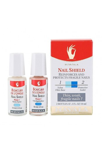 Mavala - Nail Shield - Nylon Fiber Base + Protective Shield - 2 x 10 mL / .3 oz