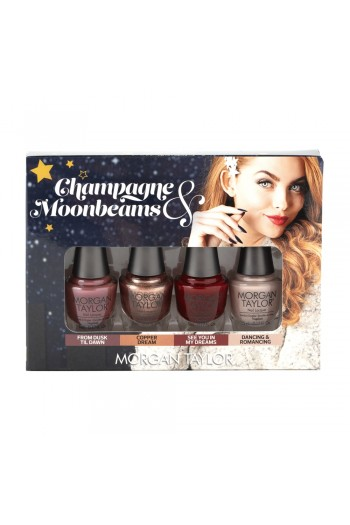 Morgan Taylor Nail Lacquer - Champagne & Moonbeams Winter 2019 Collection - Classic Mini 4 pack - 5ml / 0.17oz Each