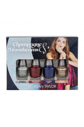 Morgan Taylor Nail Lacquer - Champagne & Moonbeams Winter 2019 Collection - Glam Mini 4 pack - 5ml / 0.17oz Each